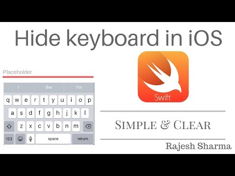 How To Hide The Keyboard in iOS - Xcode 9 1 (Swift 4) - YouTube
