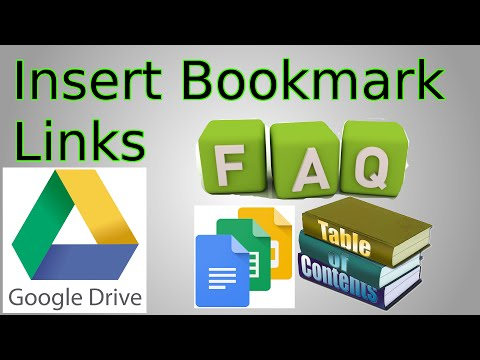 Google Docs insert Bookmark Link (Jump to section of document, Clickable table of contents, FAQ Link