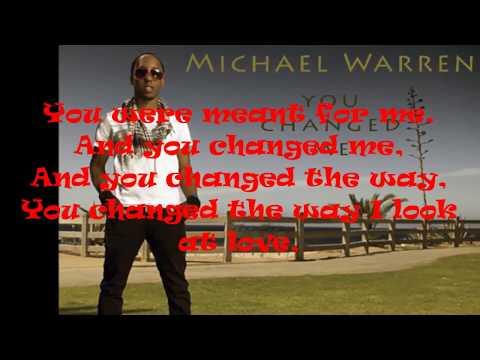 Michael Warren - You Changed Me (official video lyrics)