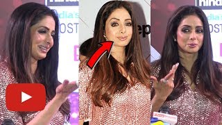 Sridevi LIP JOB Goes Wrong, Arrives At HT Stylish Awards 2018