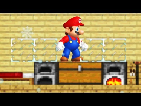 What happens when Mario take place in the World of Minecraft?