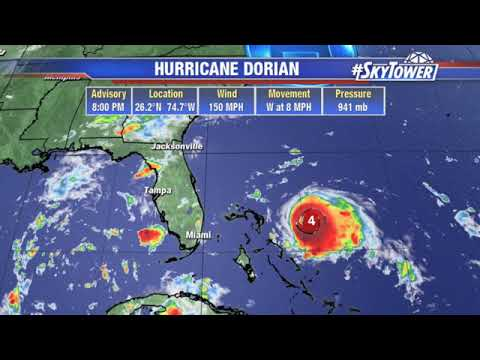 Tropical weather forecast & Dorian update #2: August 31, 2019