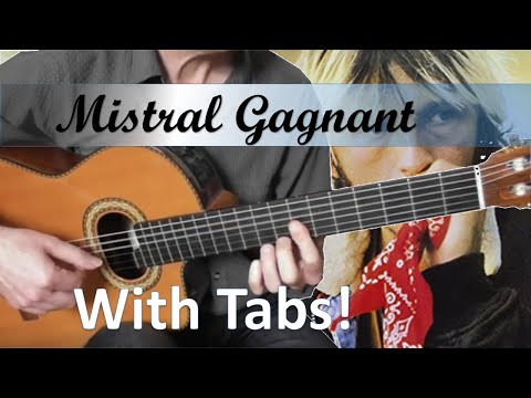 Mistral Gagnant - Renaud - Guitare Cover