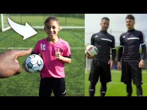 I MET 10 YEAR OLD KID CRISTIANO RONALDO JR!! ft F2Freestylers (Amazing Soccer Skills)