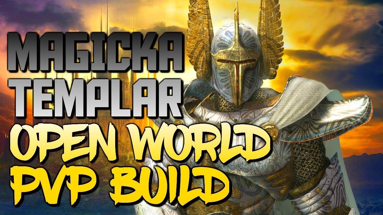 ESO Magicka Templar - NEW OPEN WORLD PVP BUILD 2018 - 1vX BUILD  [HoboWithAStick_]