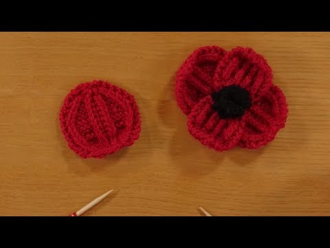 Knitting A Remembrance Poppy From Rosee Woodlandtaster Workshop