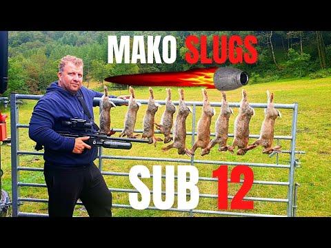 rabbit hunting with air rifle- sub 12 – slugs – accuracy – 008 lrf – mako