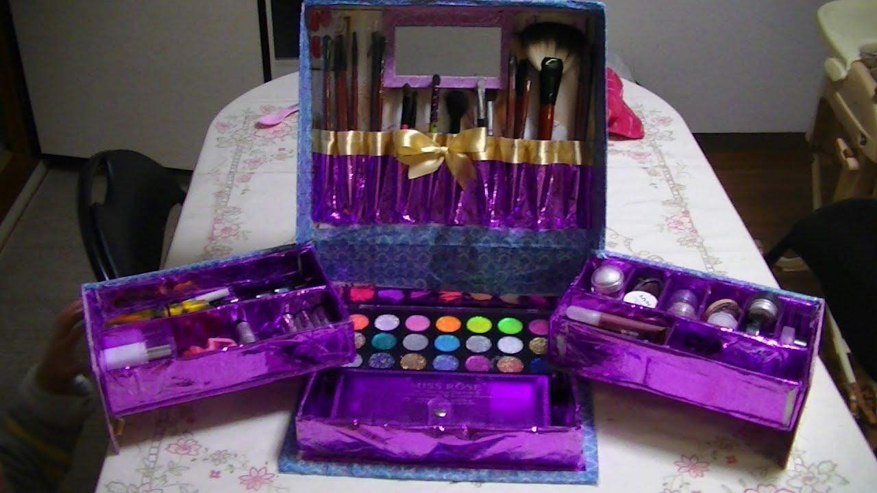 Manualidades caja organizadora de maquillaje - Manualidades con cajas de zapatos ...