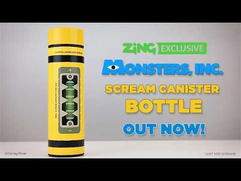 Disney - Pixar - Monsters Inc. - Scream Canister Bottle - Video