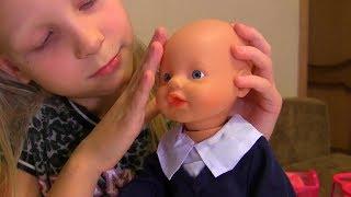 Шкільний костюмчик для My Little Baby Born Емілі! Розпакування та огляд Бебі Бона! Відео для дітей