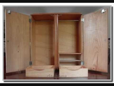 Armario de madera de cerezo maciza para nancy de famosa for Planos de roperos de madera