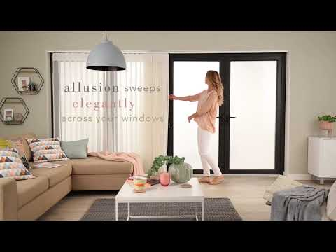 Allusion Blinds....where curtains and vertical blinds meet