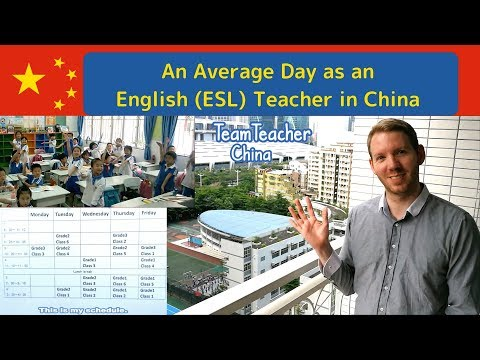 An Average Day as an English (ESL) Teacher in China