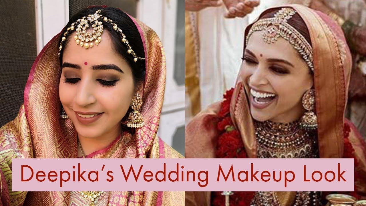 DEEPIKA PADUKONE WEDDING LOOK || Step-By-Step Indian ...