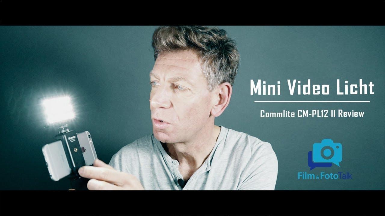 Portable Lighting for Video | Mini Video Light Commlite CM-PL12 II Review (german)  sc 1 st  YouTube & Portable Lighting for Video | Mini Video Licht Commlite CM-PL12 II ...