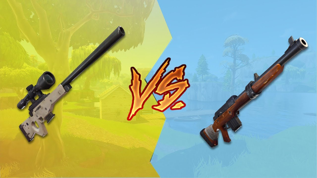 bolt action sniper vs hunting rifle which one is better fortnite