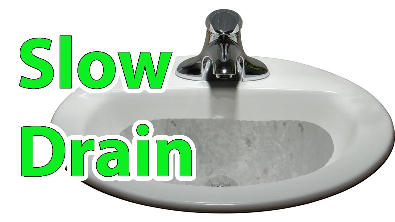 Slow draining bathroom sink FIX Repair clogged sink - YouTube