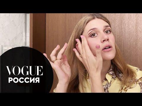 Ксюша Дукалис показывает, как сделать макияж в стиле 70-х | Vogue Россия