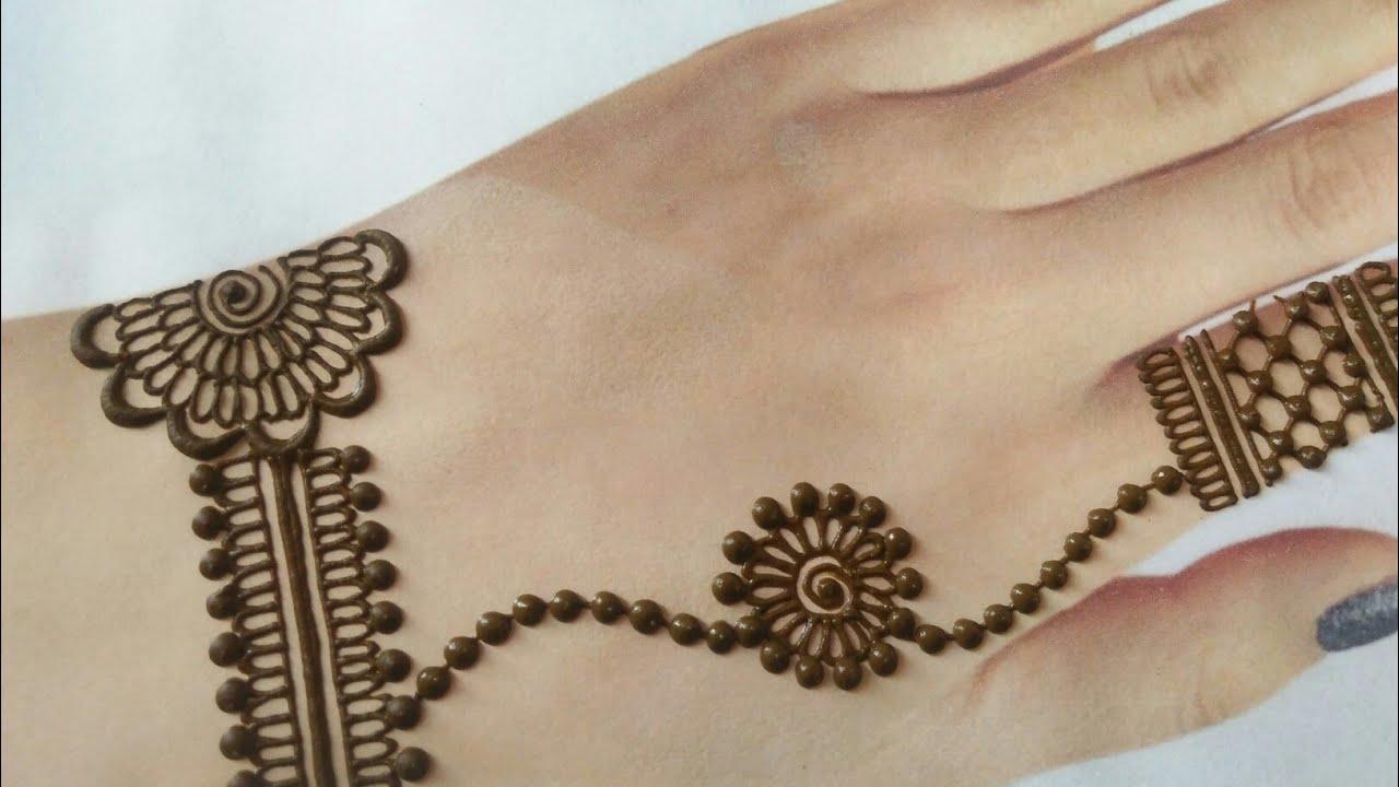 new stylish mehndi design simple