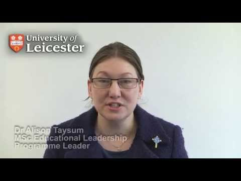 MSc Educational Leadership - Dr Alison Taysum