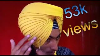 15 pecha wali amritsari patiala shahi 3d dastar by Navdeep Singh Ludhianvi