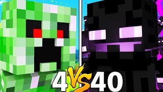 4 VS 40 FAN BATTLE CHALLENGE CAN WE WIN?! - MONSTERS INDUSTRIES MODDED 1.12.2 MINECRAFT MINIGAME
