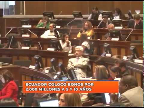 Ecuador colocó bonos por 2 000 millones a 5 y 10 años