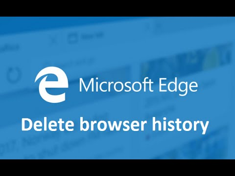 delete browser history in microsoft edge howtosolveit youtube. Black Bedroom Furniture Sets. Home Design Ideas