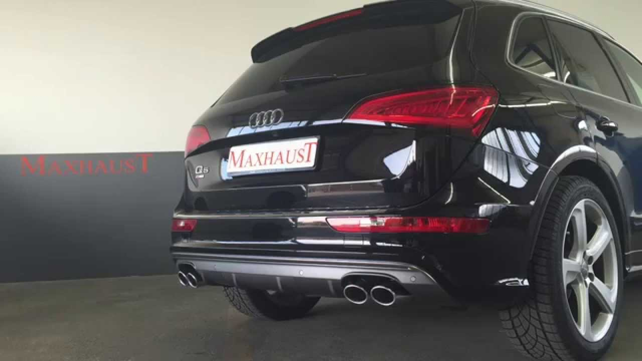 audi q5 2 0 tfsi changed to sq5 with maxhaust active sound