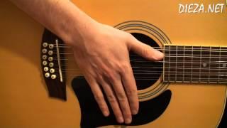 Схема гитарного боя № 1 -  : Б *↑ Б ↓ *↑ : 