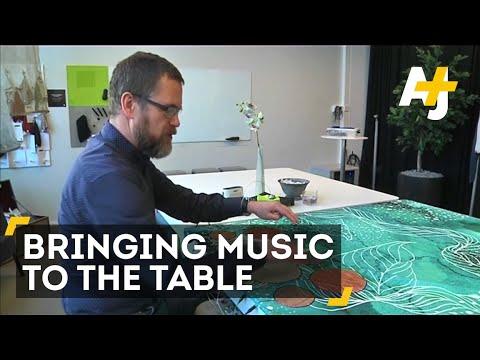 Swedish Smart Textile Engineers Make Piano Tablecloth