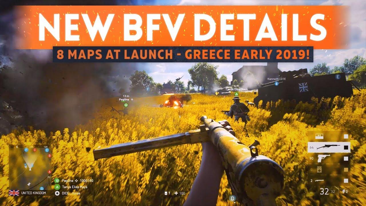 """8 LAUNCH MAPS CONFIRMED: GREECE MAP IN EARLY 2019! - """"This Is Battlefield 5"""" Trailer Info Breakdown"""