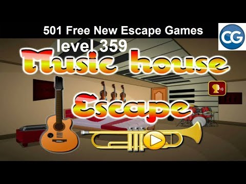[Walkthrough] 501 Free New Escape Games level 359 - Music house escape - Complete Game