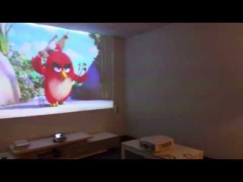 CasTV(FP-365A) - The World Shortest Throw (0.2:1) Projector (projected on a regular wall)