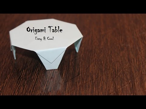 How to make a paper table origami - DIy - (Paper Craft) Creative X