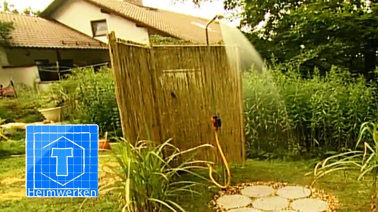Dusche Im Garten Bauen : Nemaxx SD20X Edelstahl Solardusche ? silber Gartendusche mit UV