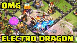 OMG 😱 ELECTRO DRAGON VS TOWNHALL 11 ! My First Electro Dragon Attack 🔥 Clash of clans
