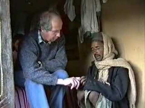 Anthropologist being treated by a shaman in Nepal, 1994