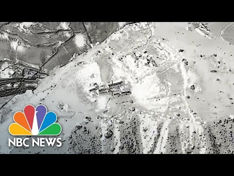 B-52 Destroys Taliban Training Camp Defenses In Afghanistan | NBC News