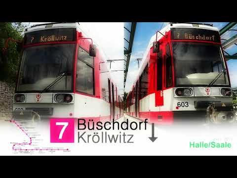 Linie 7 Halle Saale, Büschdorf nach Kröllwitz aus dem Führerstand