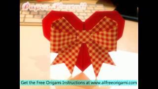 Origami Heart With Arrow