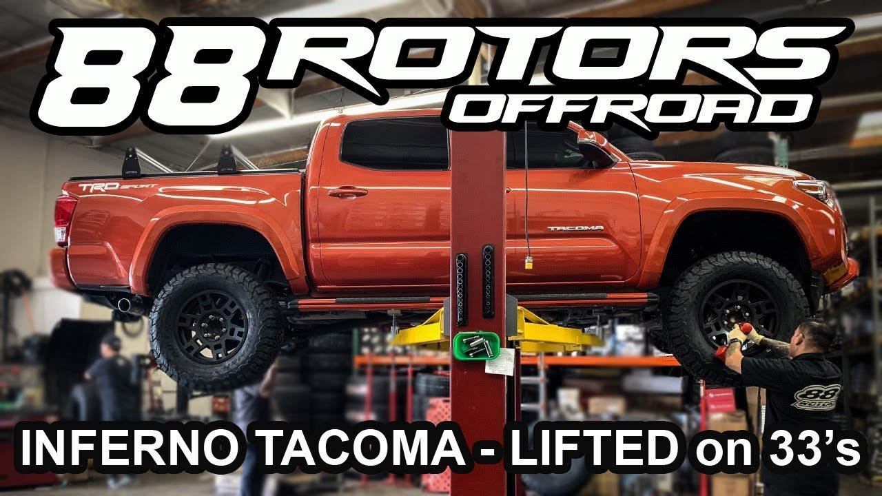 tacoma toyota trd lifted sport wheels inferno pro