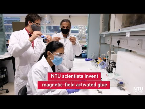 NTU Singapore scientists invent glue activated by a magnetic field