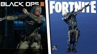 FORTNITE EMOTES VS BLACK OPS 3 EMOTES - Fortnite vs Black Ops 3 v1