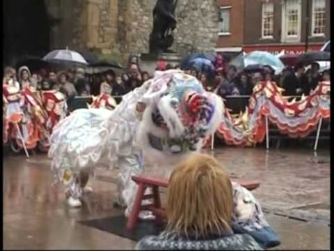 忠信龍獅團 Waterside Lion Dance Southampton Chinese New Year Part 3
