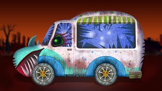 Scary Ice Cream Van | Formation and Uses | Halloween Cars Cartoon | Kids Video