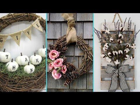 ❤ DIY Shabby Chic style Fall Wreath decor Ideas ❤| Home decor & Interior design | Flamingo Mango