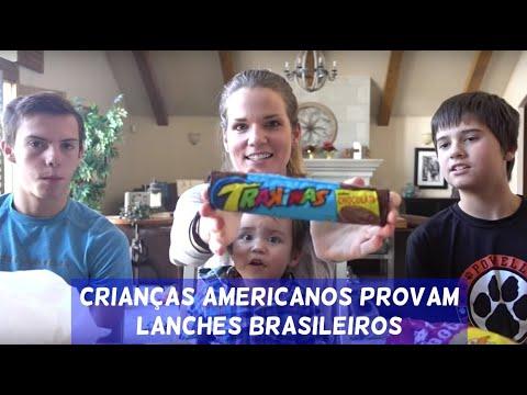 American Kids Try Brazilian Snack Foods (com Legenda Em Português)