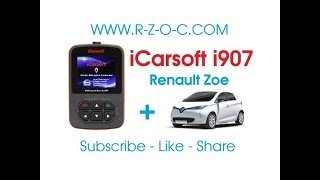 iCarsoft i907 - Renault Zoe checking BMS etc