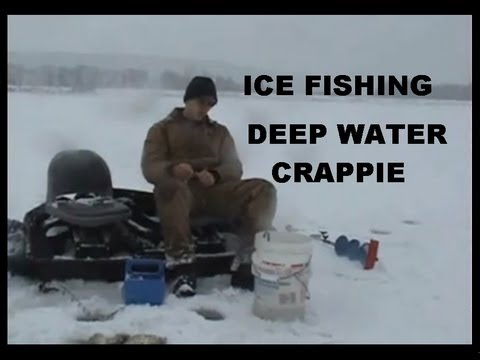 Ice fishing deep water crappie youtube for Ice fishing youtube